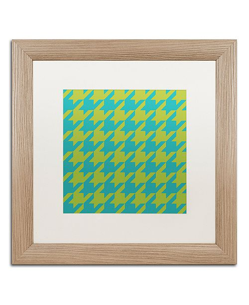 "Trademark Global Color Bakery 'Houndstooth I' Matted Framed Art, 16"" x 16"""