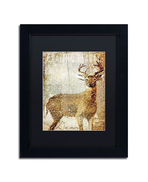 """Trademark Global Color Bakery 'Winter Game Two' Matted Framed Art, 11"""" x 14"""""""