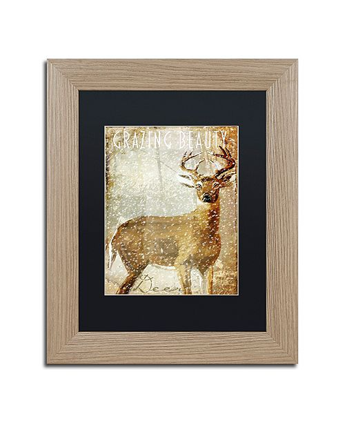 "Trademark Global Color Bakery 'Winter Game Two' Matted Framed Art, 11"" x 14"""