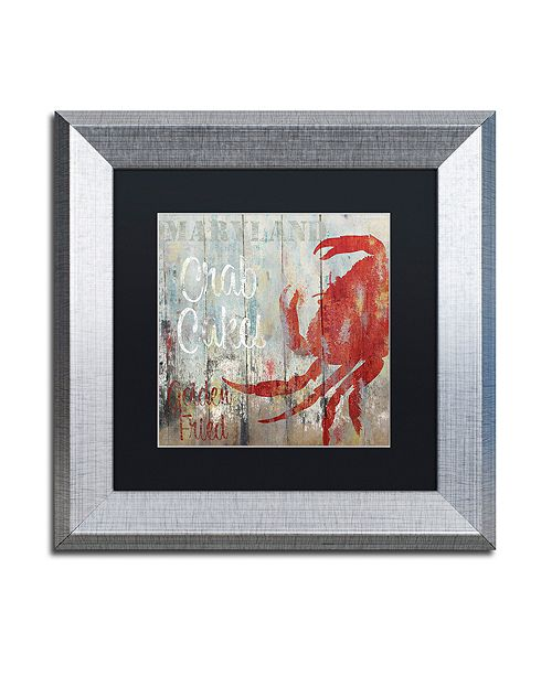 "Trademark Global Color Bakery 'Restaurant Seafood Ii' Matted Framed Art, 11"" x 11"""