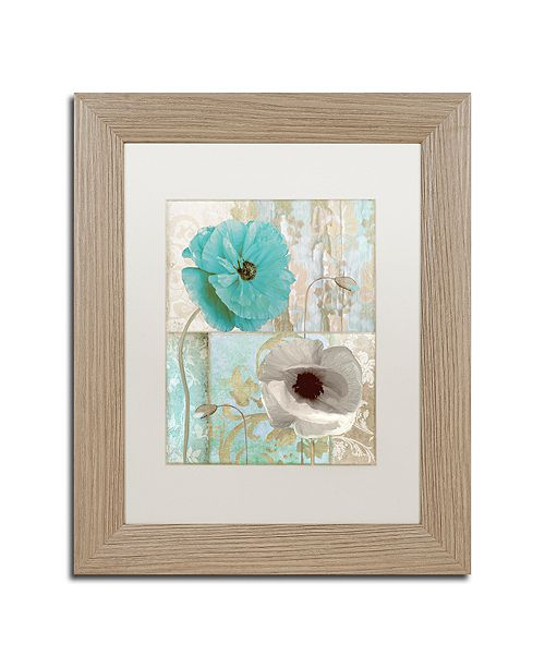 "Trademark Global Color Bakery 'Beach Poppies Ii' Matted Framed Art, 11"" x 14"""