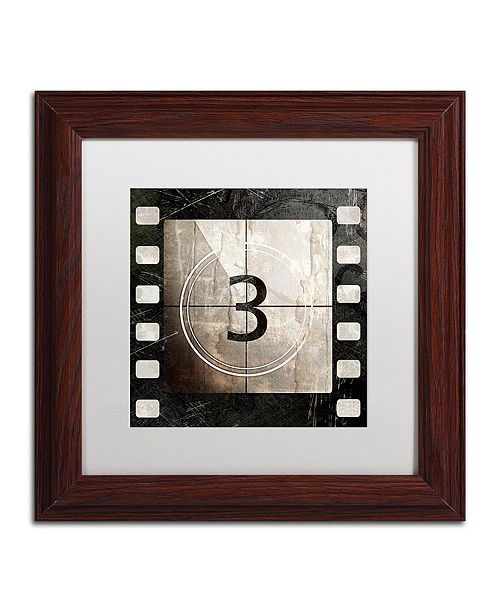 """Trademark Global Color Bakery 'Vintage Countdown Iii' Matted Framed Art, 11"""" x 11"""""""