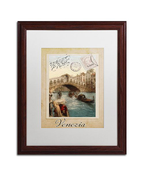 "Trademark Global Color Bakery 'European Vacation I' Matted Framed Art, 16"" x 20"""