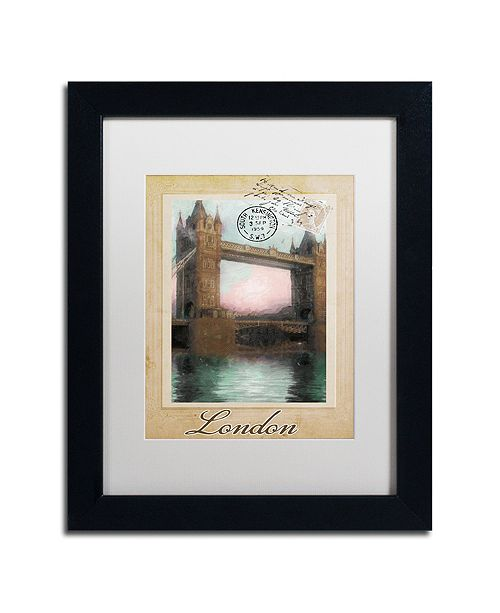 "Trademark Global Color Bakery 'European Vacation Iii' Matted Framed Art, 11"" x 14"""