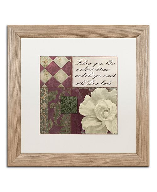 """Trademark Global Color Bakery 'Follow Your Bliss' Matted Framed Art, 16"""" x 16"""""""