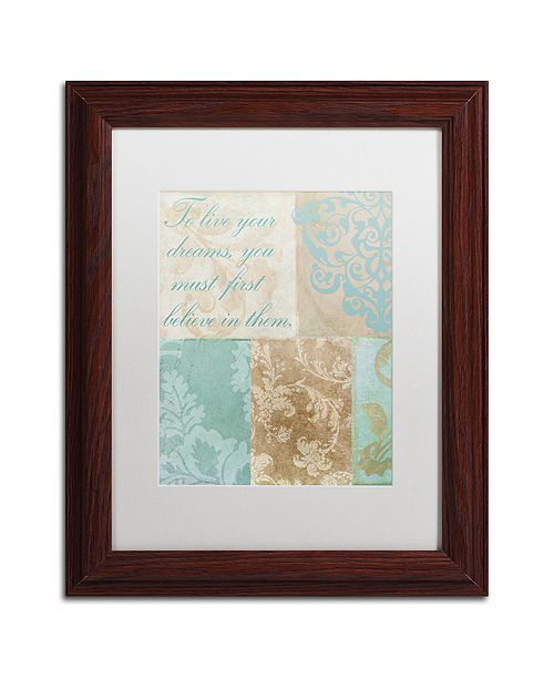 "Trademark Global Color Bakery 'Live Your Dreams' Matted Framed Art, 11"" x 14"""