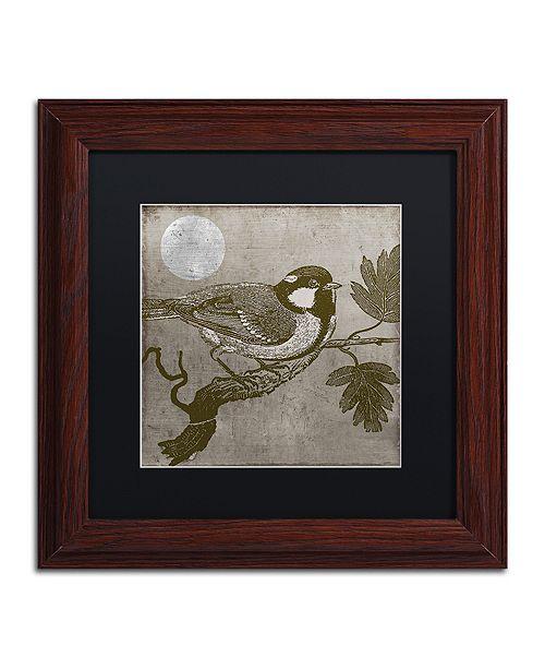 """Trademark Global Color Bakery 'Moon Bird' Matted Framed Art, 11"""" x 11"""""""