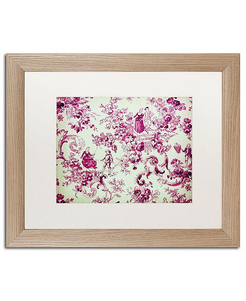"Trademark Global Color Bakery 'Toile Fabrics Iii' Matted Framed Art, 16"" x 20"""