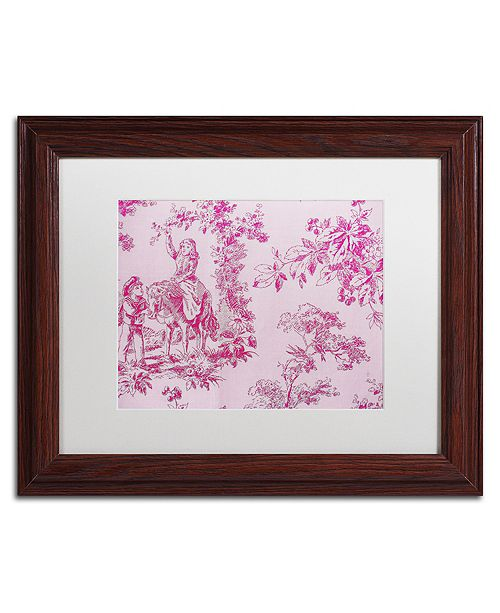 "Trademark Global Color Bakery 'Toile Fabrics Iv' Matted Framed Art, 11"" x 14"""