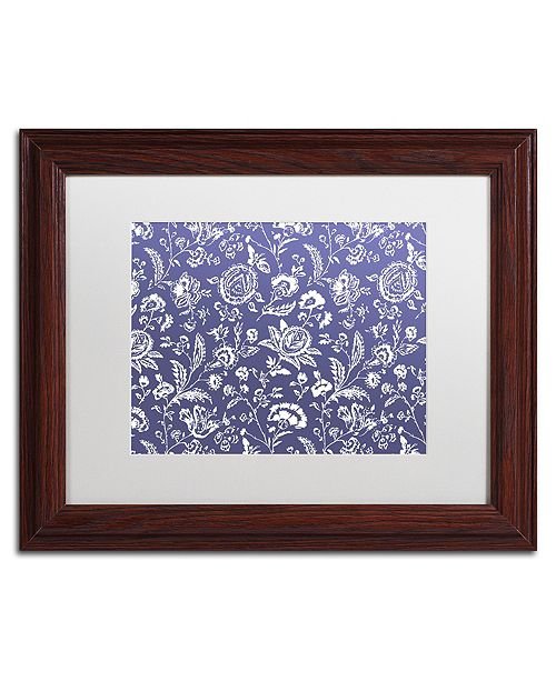 "Trademark Global Color Bakery 'Toile Fabrics X' Matted Framed Art, 11"" x 14"""