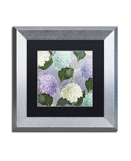 "Trademark Global Color Bakery 'Hortensia Lavenders' Matted Framed Art, 11"" x 11"""