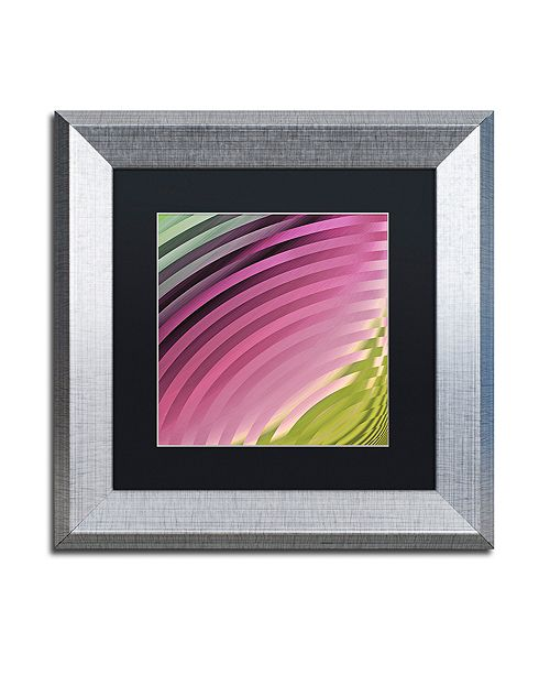 "Trademark Global Color Bakery 'Satin Ii' Matted Framed Art, 11"" x 11"""