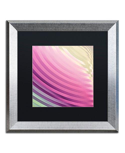 "Trademark Global Color Bakery 'Satin Iii' Matted Framed Art, 16"" x 16"""