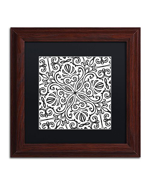 "Trademark Global Color Bakery 'Suriah Ii' Matted Framed Art, 11"" x 11"""