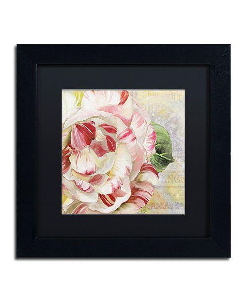 "Trademark Global Color Bakery 'Camellias Ii' Matted Framed Art, 11"" x 11"""