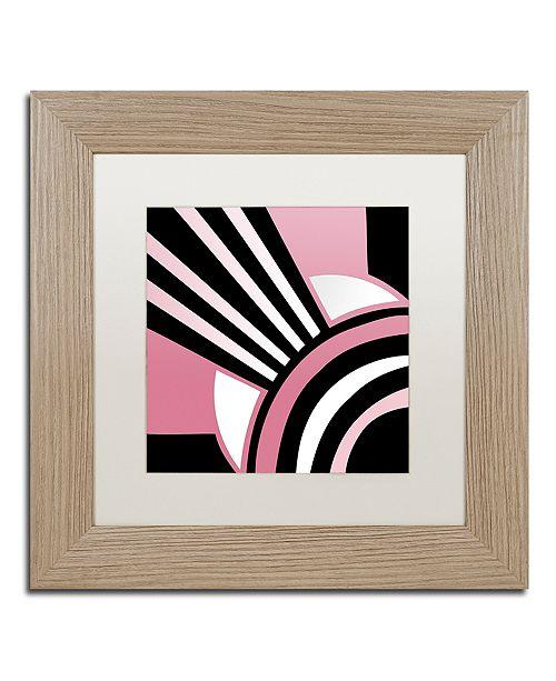 "Trademark Global Color Bakery 'Daring Deco I' Matted Framed Art, 11"" x 11"""