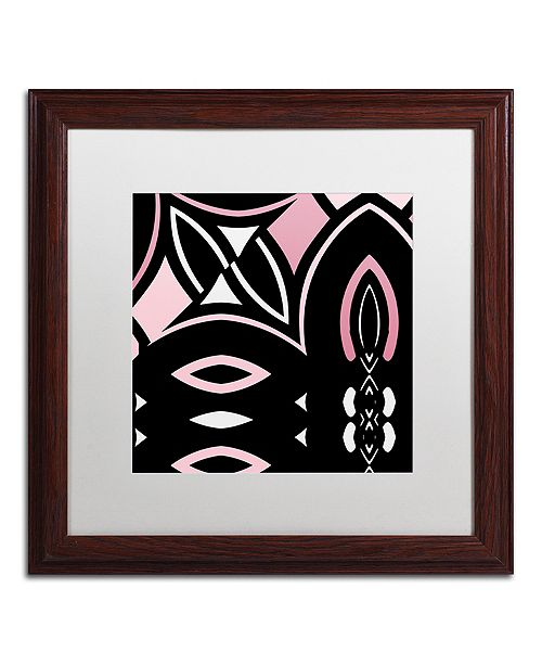 "Trademark Global Color Bakery 'Daring Deco Iv' Matted Framed Art, 16"" x 16"""