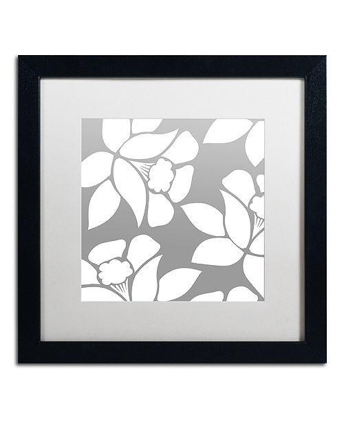 "Trademark Global Color Bakery 'Calyx Floral' Matted Framed Art, 16"" x 16"""