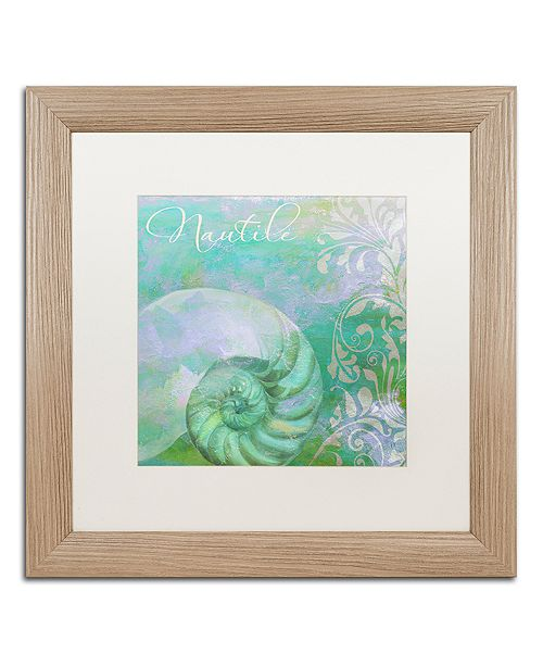 """Trademark Global Color Bakery 'Painted Sea I' Matted Framed Art, 16"""" x 16"""""""