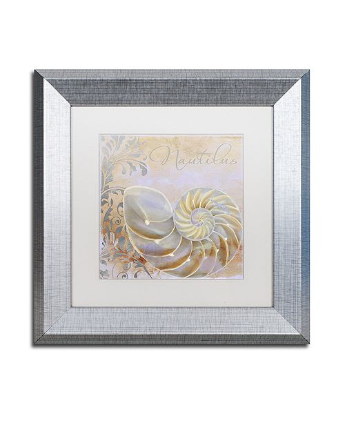 "Trademark Global Color Bakery 'Painted Sea Iii' Matted Framed Art, 11"" x 11"""