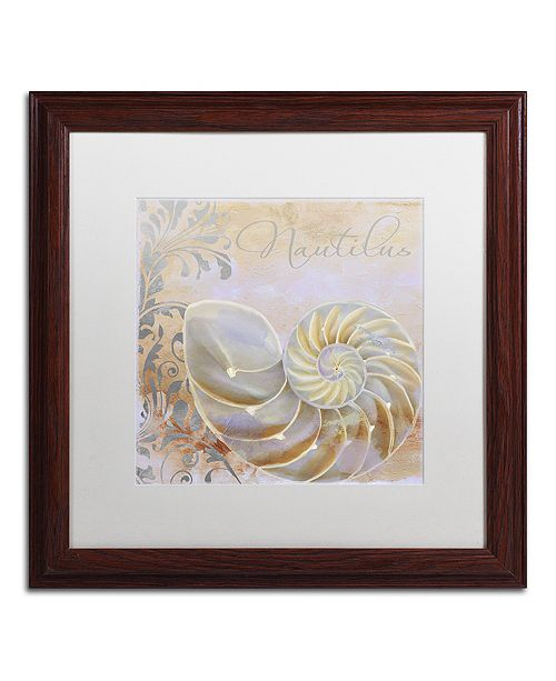 """Trademark Global Color Bakery 'Painted Sea Iii' Matted Framed Art, 16"""" x 16"""""""
