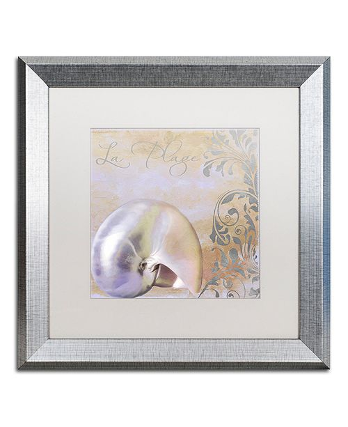 """Trademark Global Color Bakery 'Painted Sea Iv' Matted Framed Art, 16"""" x 16"""""""