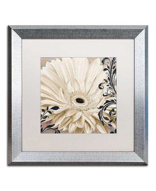 """Trademark Global Color Bakery 'Winter White I' Matted Framed Art, 16"""" x 16"""""""