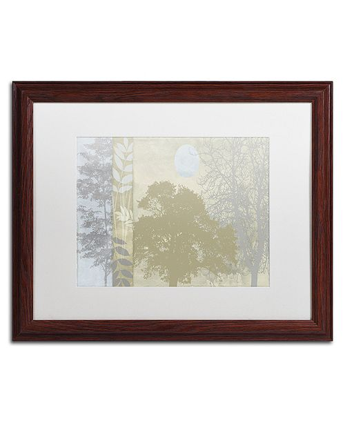 """Trademark Global Color Bakery 'Tree Language Ii' Matted Framed Art, 16"""" x 20"""""""