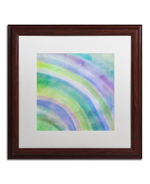 "Trademark Global Color Bakery 'Cold' Matted Framed Art, 16"" x 16"""