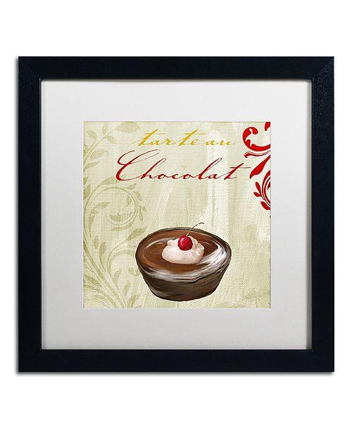 "Trademark Global Color Bakery 'Tartes Francais, Chocolat' Matted Framed Art, 16"" x 16"""