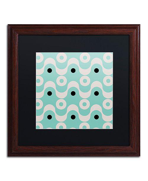 "Trademark Global Color Bakery 'Fifties Patterns Ii' Matted Framed Art, 16"" x 16"""