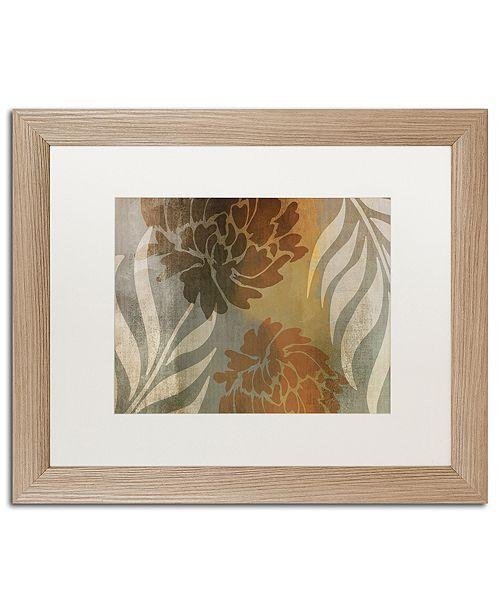 "Trademark Global Color Bakery 'Garden Waltz I' Matted Framed Art, 16"" x 20"""