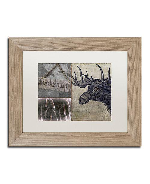"Trademark Global Color Bakery 'Moose' Matted Framed Art, 11"" x 14"""