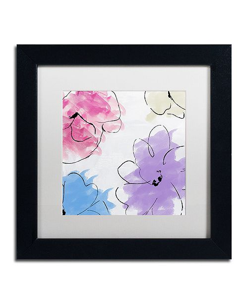 """Trademark Global Color Bakery 'Kasumi Four' Matted Framed Art, 11"""" x 11"""""""