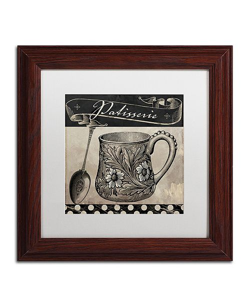 "Trademark Global Color Bakery 'Bistro Parisienne Iii' Matted Framed Art, 11"" x 11"""