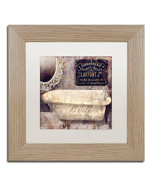 "Trademark Global Color Bakery 'Le Bain Paris I' Matted Framed Art, 11"" x 11"""