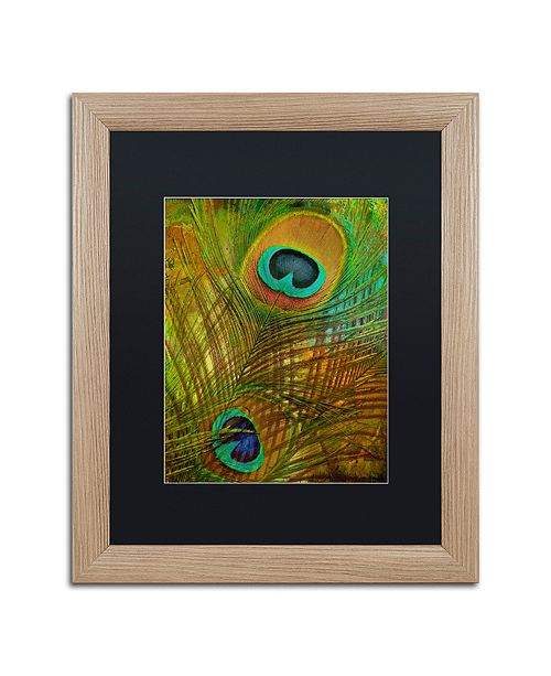 "Trademark Global Color Bakery 'Peacock Candy Ii' Matted Framed Art, 16"" x 20"""