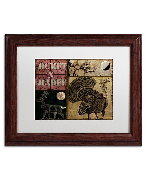 """Trademark Global Color Bakery 'Locked And Loaded Iv' Matted Framed Art, 11"""" x 14"""""""