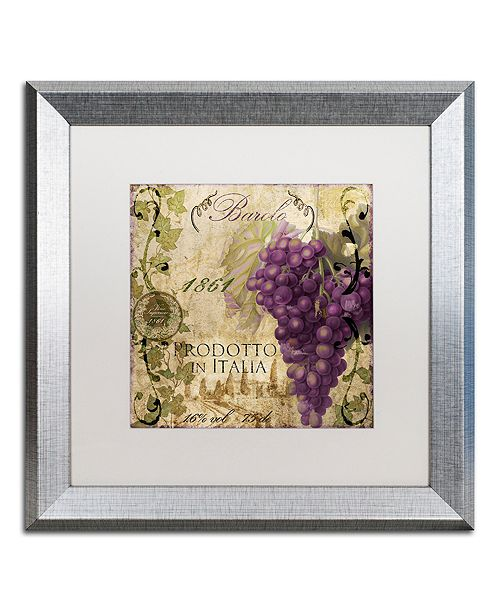 "Trademark Global Color Bakery 'Vino Italiano Ii' Matted Framed Art, 16"" x 16"""