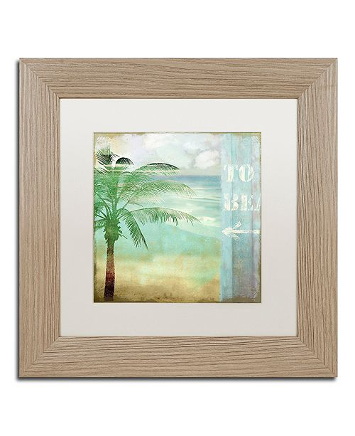 "Trademark Global Color Bakery 'By The Sea Iii' Matted Framed Art, 11"" x 11"""