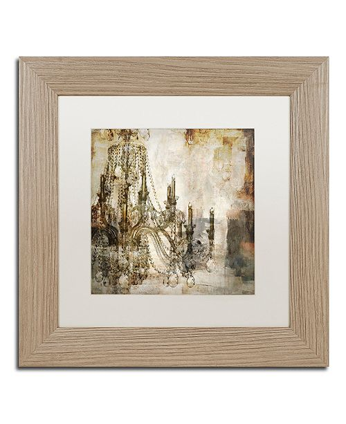 """Trademark Global Color Bakery 'Lumi'res I' Matted Framed Art, 11"""" x 11"""""""