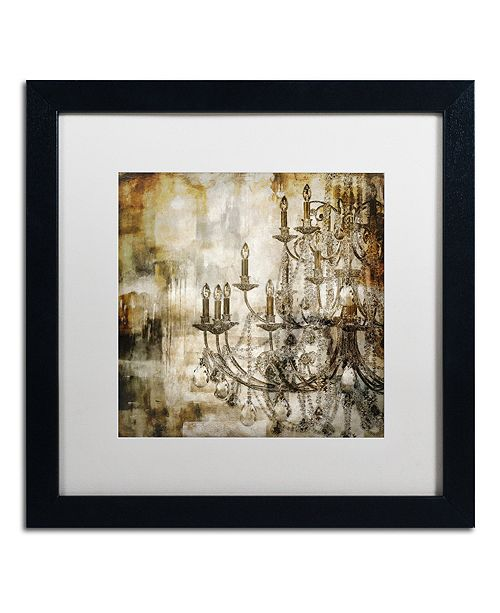 """Trademark Global Color Bakery 'Lumi'res Ii' Matted Framed Art, 16"""" x 16"""""""