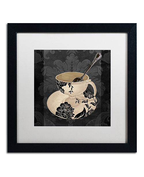 """Trademark Global Color Bakery 'Vintage Cafe Ii' Matted Framed Art, 16"""" x 16"""""""