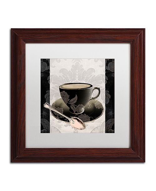 "Trademark Global Color Bakery 'Vintage Cafe Iii' Matted Framed Art, 11"" x 11"""