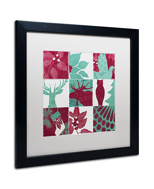 """Trademark Global Color Bakery 'Woodland Winter V' Matted Framed Art, 16"""" x 16"""""""