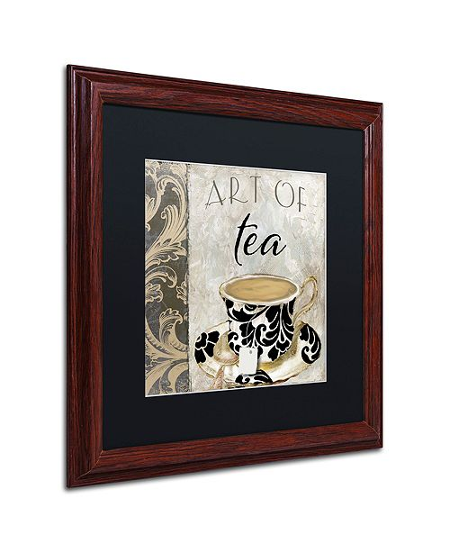 "Trademark Global Color Bakery 'Art Of Tea I' Matted Framed Art, 16"" x 16"""