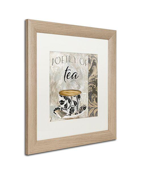 "Trademark Global Color Bakery 'Art Of Tea Ii' Matted Framed Art, 16"" x 16"""