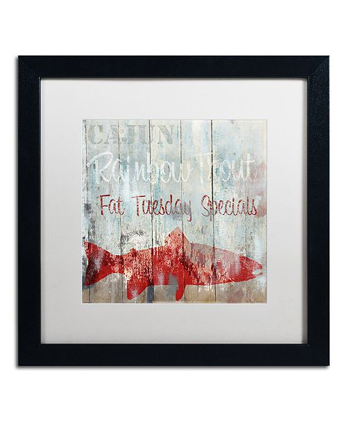 "Trademark Global Color Bakery 'New Orleans Seafood Iii' Matted Framed Art, 16"" x 16"""