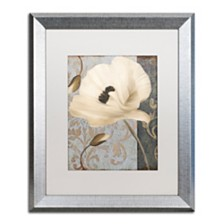 "Color Bakery 'Poppy Brocade Ii' Matted Framed Art, 16"" x 20"""