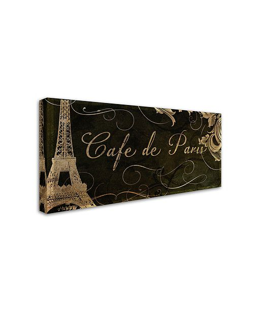 "Trademark Global Color Bakery 'Cafe De Paris' Canvas Art, 10"" x 19"""